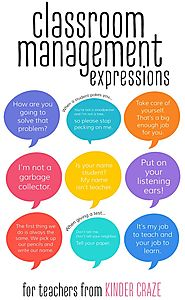 Classroom Management Phrases for Teachers - Kinder Craze