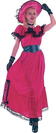 Women Fancy Dress Gone With The Wind Western Victorian Scarlet O' Hara Costume