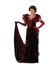 Women's Scarlett O'Hara Burgundy Gown Theater Costume- LIMITED QUANTITY
