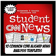 CNN Student News Current Event Analysis Common Core Worksheets
