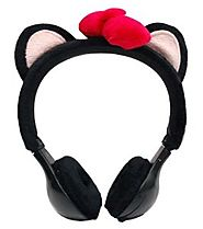 Emio Mix-Monsters Headphones Black Kitten
