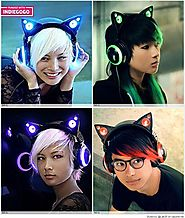 Cat Ear Shaped Headphones