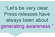Generate Awareness, Not Links, With Press Releases