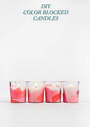 DIY Color Blocked Candles - The Crafted Life