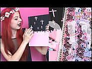 DIY: Creepy/Pastel Goth School Supplies #Backtoschool