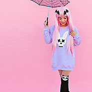 Cute DIY Pastel Goth Bunny Shirt