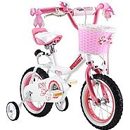 RoyalBaby Jenny Girl's Bike with Training Wheels and Basket - 12 Inch, 14 Inch, 16 Inch (Ages 2 to 8)
