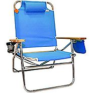 Big Jumbo Aluminum Beach Chair - Blue