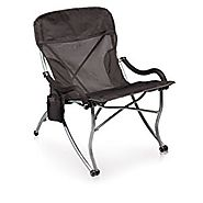 Picnic Time 'PT-XL' Over-Sized 400-Lb. Capacity Outdoor Folding Camp Chair, Black