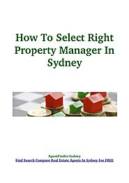 How To Select Right Property Manager?