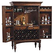Howard Miller Cherry Hill Home Bar Wine and Liquor Cabinet
