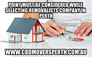 Point Must Be Considered While Selecting Removalists Company in Perth