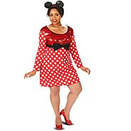 Little Red Mouse Dress Women's Plus Size Adult Halloween Costume