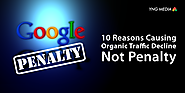 What causes a decline in organic traffic and not a penalty?