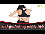Herbal Supplements To Manage Back Pain And Arthritis That Are Safe