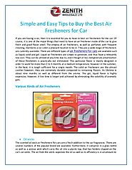 Simple and Easy Tips to Buy the Best Air Fresheners for Car