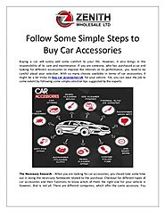 Follow Some Simple Steps to Buy Car Accessories