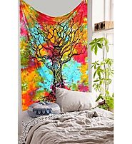 Decor your home with Tree of life wall hanging tapestry