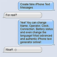 Create Fake iPhone Text Messages
