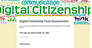 Digital Citizenship Post-Assessment