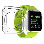 Apple Watch Case 42mm, LUVVITT [Clarity] Full Body Clear Soft Flexible TPU Case with Tempered Screen Protector for Ap...