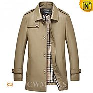 CWMALLS Designer Mid-length Trench Coat CW816024
