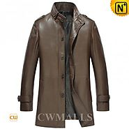 CWMALLS Brown/Black Mens Trench Coats CW816023