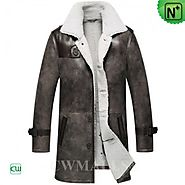 CWMALLS® Custom Shearling Trench Coat CW836066