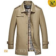 CWMALLS® Men's Classics Leather Coat CW816024
