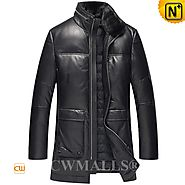 CWMALLS® New York Men's Leather Down Coat CW807200