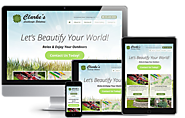 Landscaping Company Web Design | Landing Page Web Design (2015)