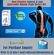 Ayurvedic Muscle Pain Relief Oil To Reduce Arthritis By AyurvedResearchFoundation.in