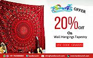 Online Indian Printed Wall Hangings Tapestry