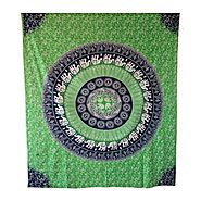 Beautiful green Elephant Printed Wall Hanging