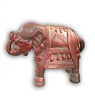 Vintage Red Terracotta Elephant