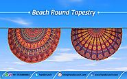 Amazing Beach Roundie Wall Hangings Tapestry