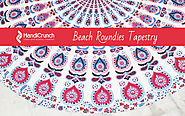 Beach Roundie Tapestry
