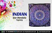 Indian Star Mandala Tapestry