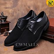 CWMALLS® Mens Lace-up Leather Derby Shoes CW716019