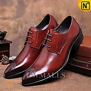 CWMALLS® Lace-up Leather Derby Shoes CW716017