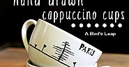 Hand Drawn Cappuccino Cups.