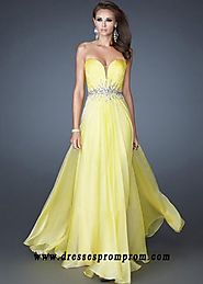 2016 Yellow Jeweled Waist Watermelon Pleated Long Prom Dresses