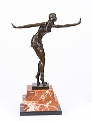 Art Deco Style Bronze Cabaret Dancer After Chiparus