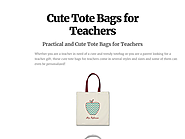 Cute Tote Bags for Teachers