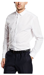 Men's Long Sleeves Poplin Regular Formal Shirts