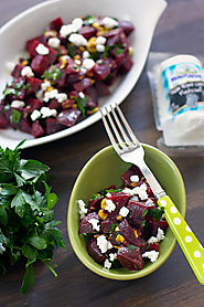 Beet Salad with Pistachios and Crumbled Goat Cheese