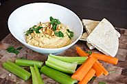 Roasted Garlic Hummus - livelovepasta