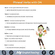 Common Phrasal Verbs with ON!