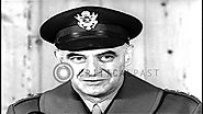 General Lucius Clay talks about the Berlin Blockade in United States. HD Stock Footage