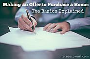 Making An Offer to Purchase a Home: The Basics Explained